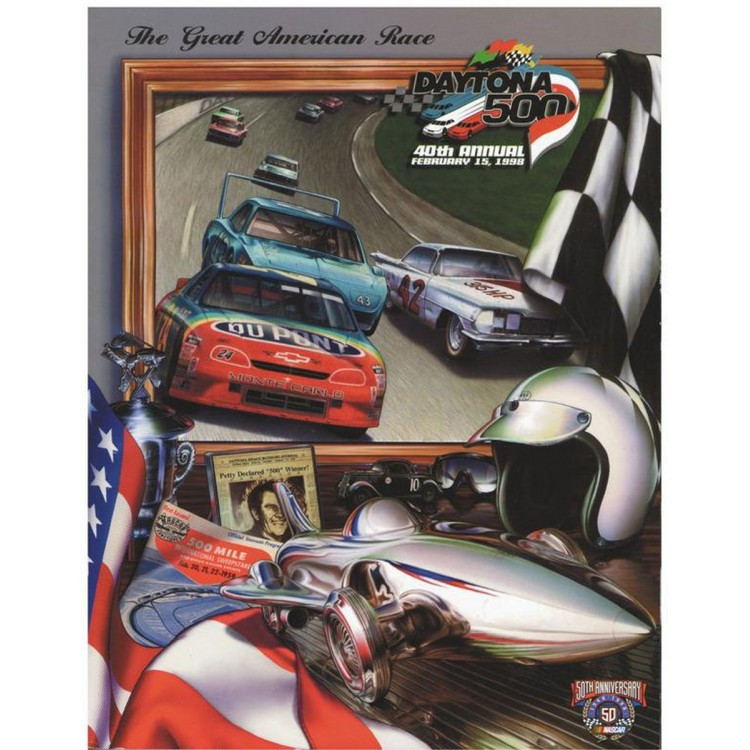 "Canvas 22"" x 30"" 40th Annual 1998 Daytona 500 Program Print"