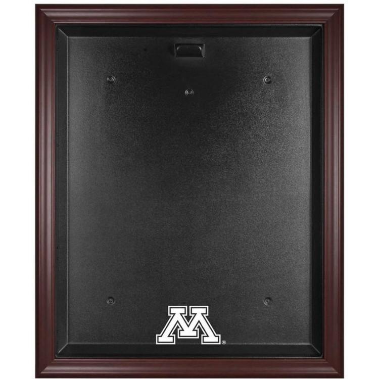 Minnesota Golden Gophers Mahogany Framed Logo Jersey Display Case