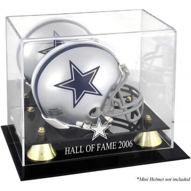 Dallas Cowboys 2006 Hall of Fame Golden Classic Cowboys Logo Mini Helmet Case