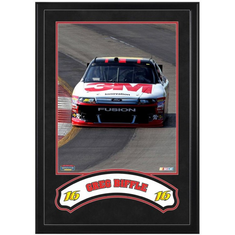 """Greg Biffle Framed Iconic 16"""" x 20"""" Photo with Banner"""