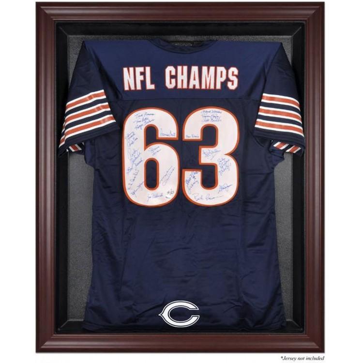 Chicago Bears Frame Jersey Display Case - Mahogany