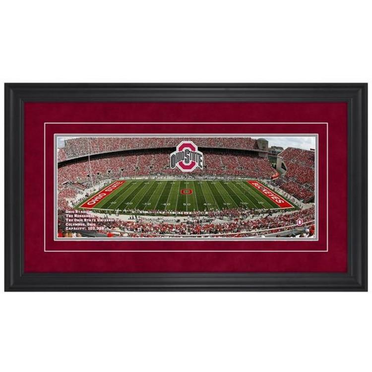 Ohio Stadium Ohio State Buckeyes Gameday Framed Panoramic