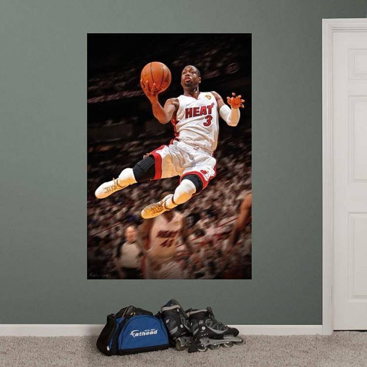 Dwyane Wade 2012 NBA Finals Mural REAL.BIG. Fathead