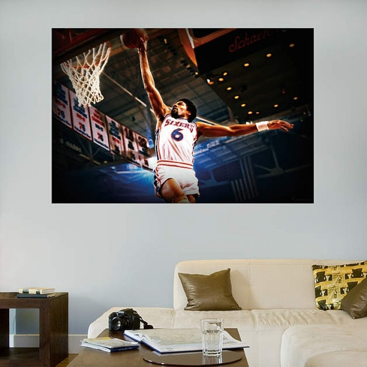 Julius Erving Mural REAL.BIG. Fathead