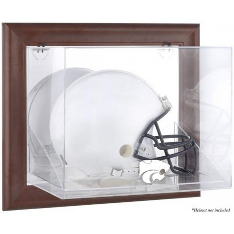Kansas State Wildcats Brown Framed Wall-Mountable Helmet Display Case
