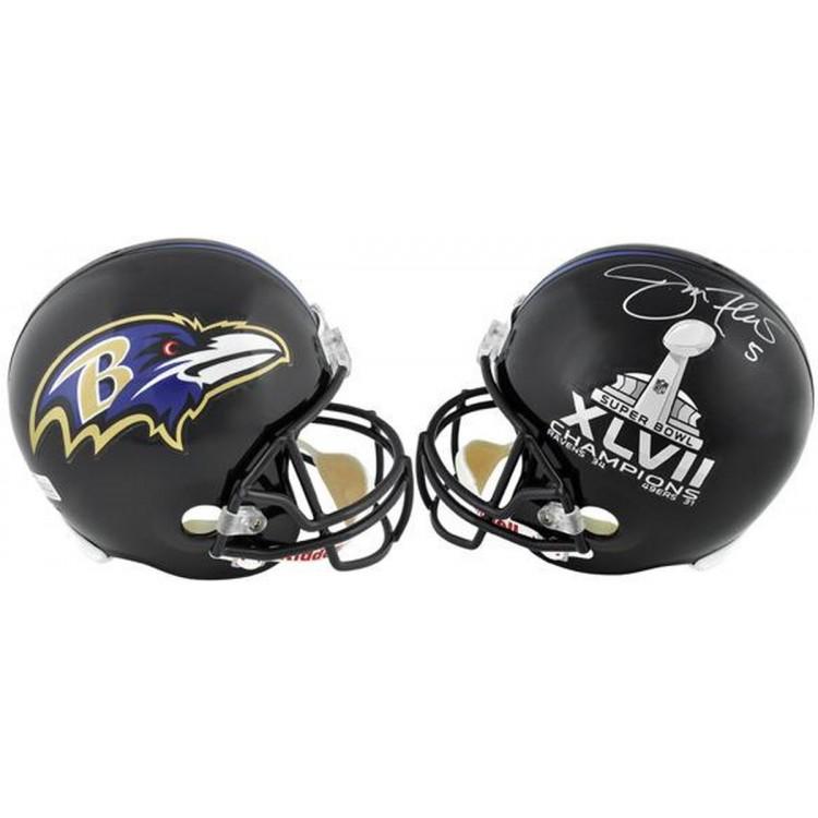 Joe Flacco Baltimore Ravens/Super Bowl XLVII Logo Riddell Replica Helmet