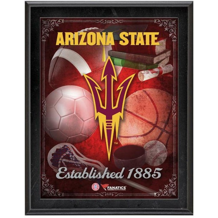 "Arizona State Sun Devils Team Logo Sublimated 10.5"" x 13"" Plaque"