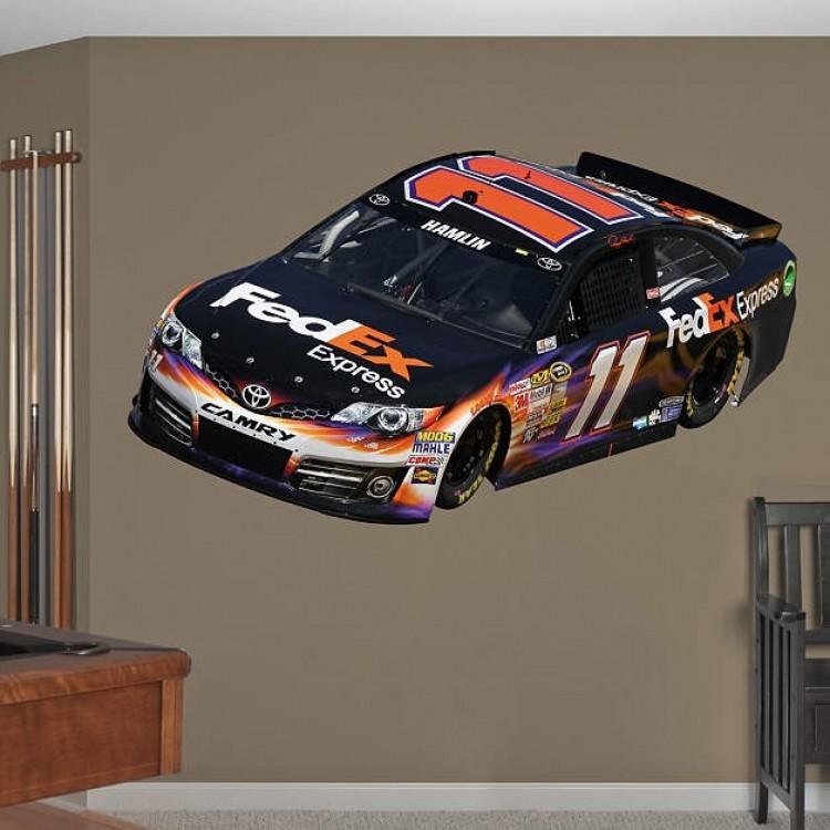 NASCAR Denny Hamlin 2013 FedEx Car RealBig REAL.BIG. Fathead