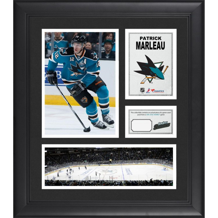 """Patrick Marleau San Jose Sharks Framed 15"""" x 17"""" Collage with Game-Used Puck-Limited Edition of 500"""
