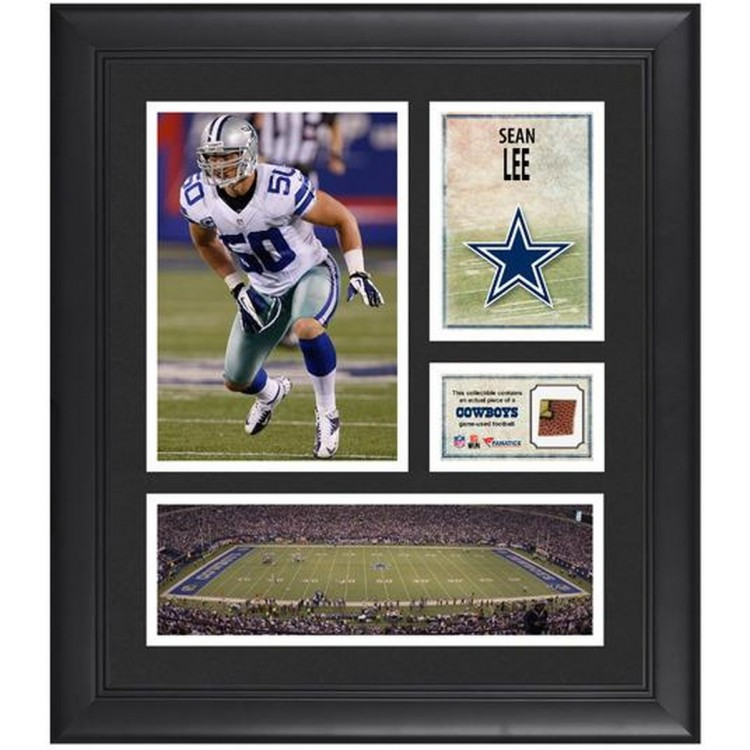 """Sean Lee Dallas Cowboys Framed 15"""" x 17"""" Collage with Game-Used Football"""