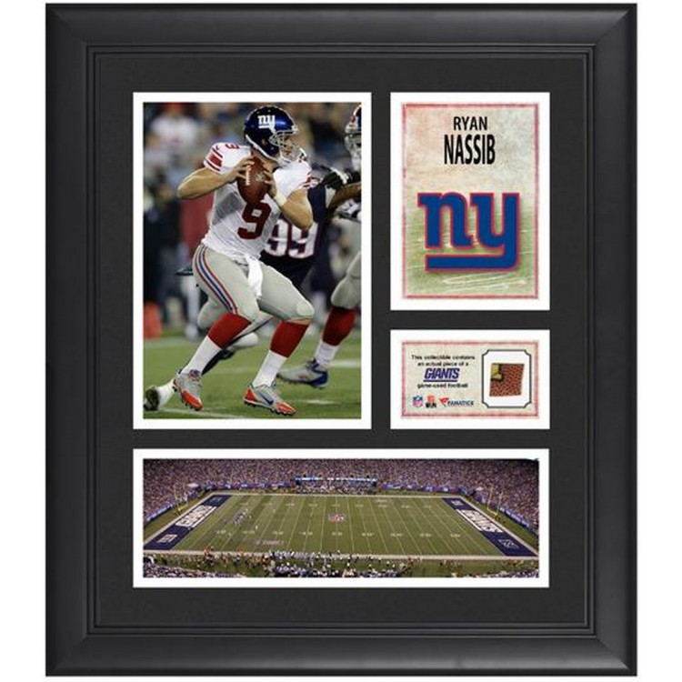"Ryan Nassib New York Giants Framed 15"" x 17"" Collage with Game-Used Football"
