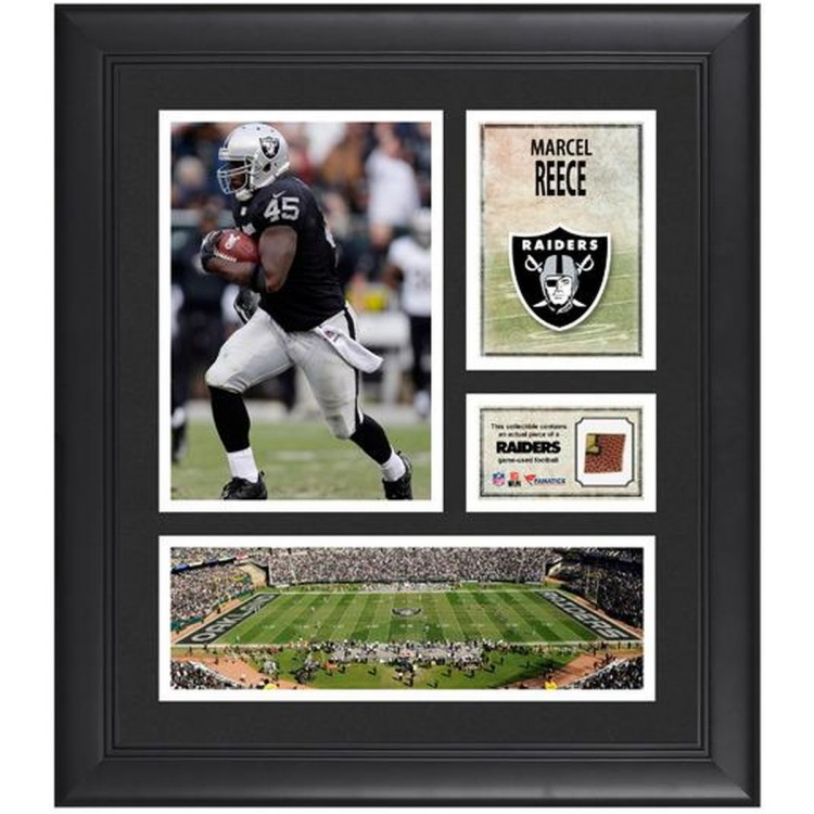 "Marcel Reece Oakland Raiders Framed 15"" x 17"" Collage with Game-Used Football"
