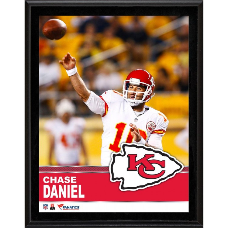 "Chase Daniel Kansas City Chiefs Sublimated 10.5"" x 13"" Plaque"