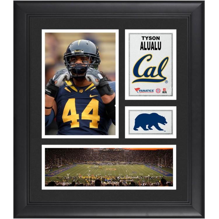 """Tyson Alualu Cal Bears Framed 15"""" x 17"""" Collage"""