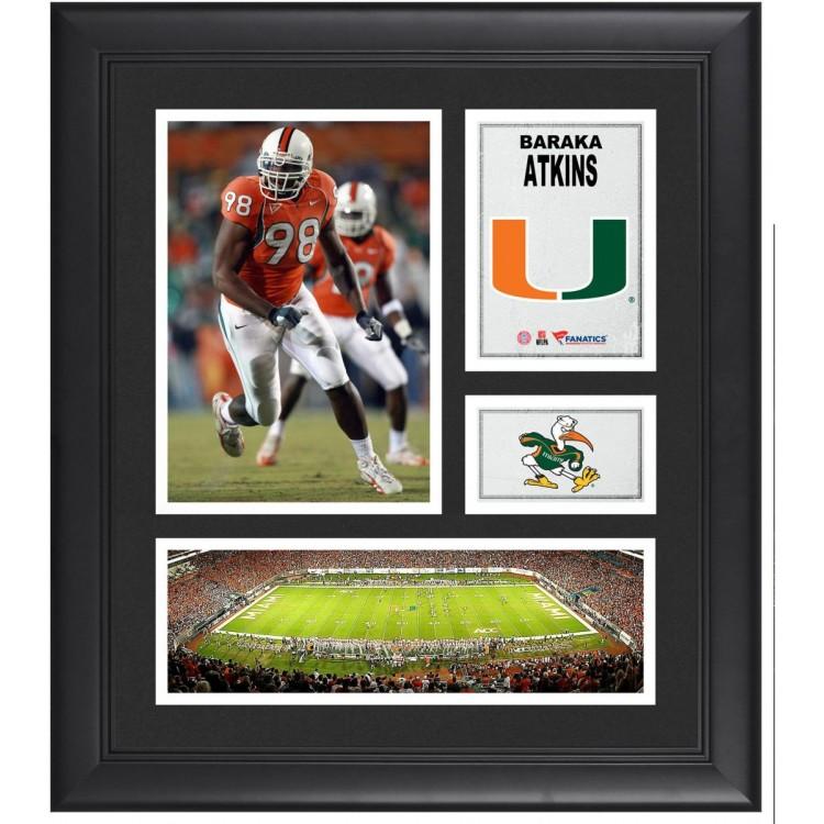 "Baraka Atkins Miami Hurricanes Framed 15"" x 17"" Collage"