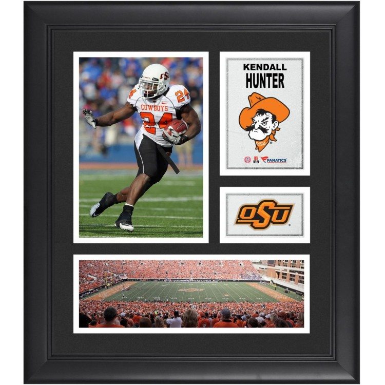 """Kendall Hunter Oklahoma State Cowboys Framed 15"""" x 17"""" Collage"""