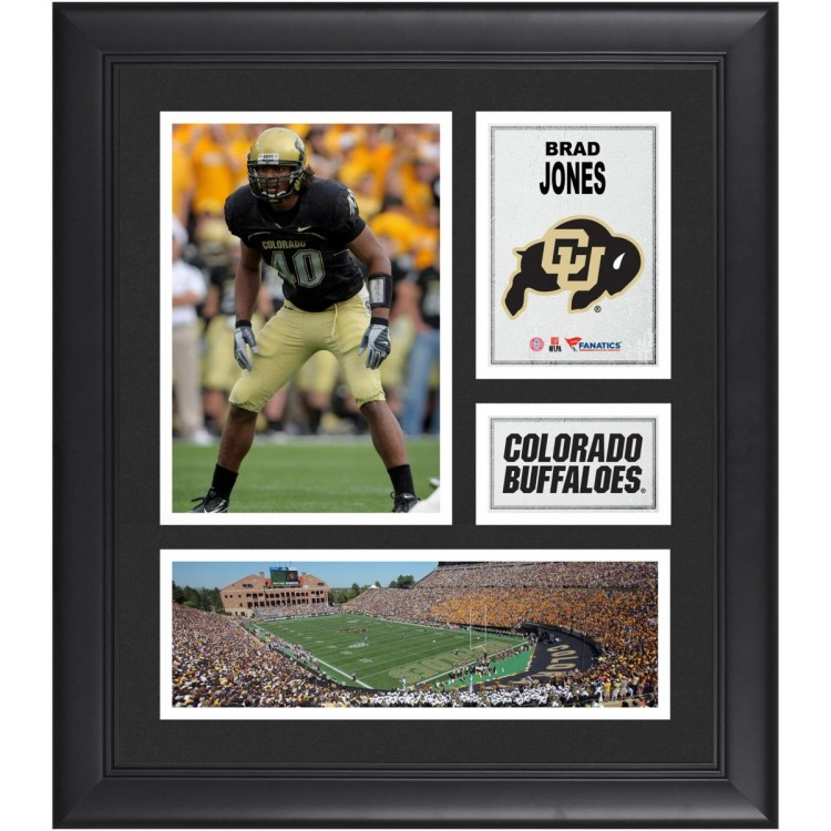 "Brad Jones Colorado Buffaloes Framed 15"" x 17"" Collage"