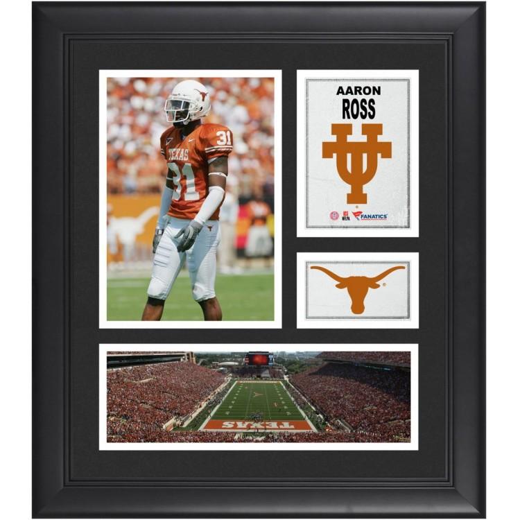 "Aaron Ross Texas Longhorns Framed 15"" x 17"" Collage"