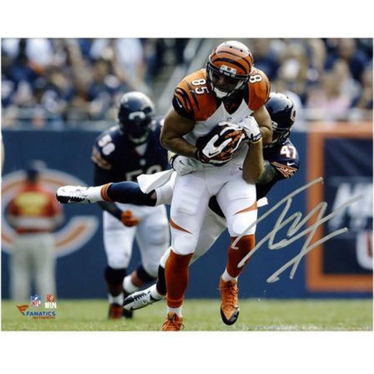 "Tyler Eifert Cincinnati Bengals Autographed 8"" x 10"" Horizontal Break Tackle Photograph"