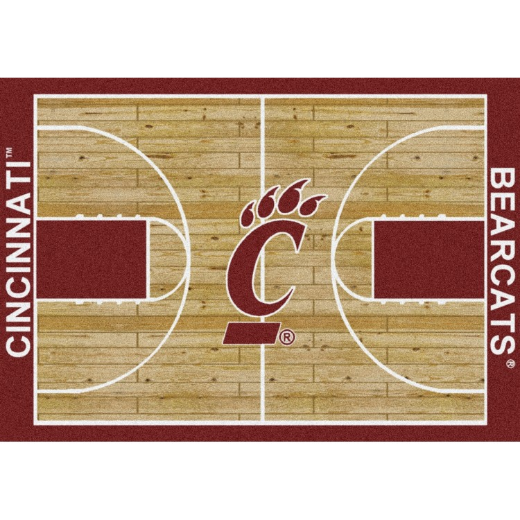 "Cincinnati Bearcats 5'4""x7'8"" College Home Court Area Rug"