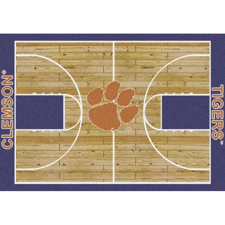 "Clemson Tigers 5'4""x7'8"" College Home Court Area Rug"