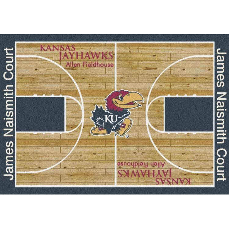"Kansas 5'4""x7'8"" College Home Court Area Rug"