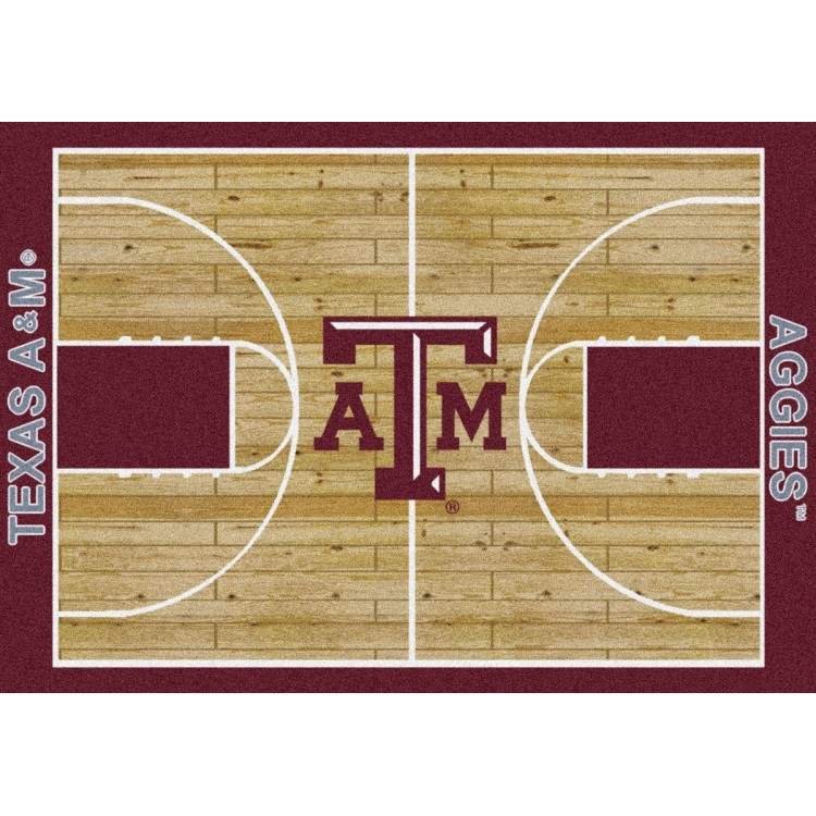 """Texas A&M 5'4""""x7'8"""" College Home Court Area Rug"""