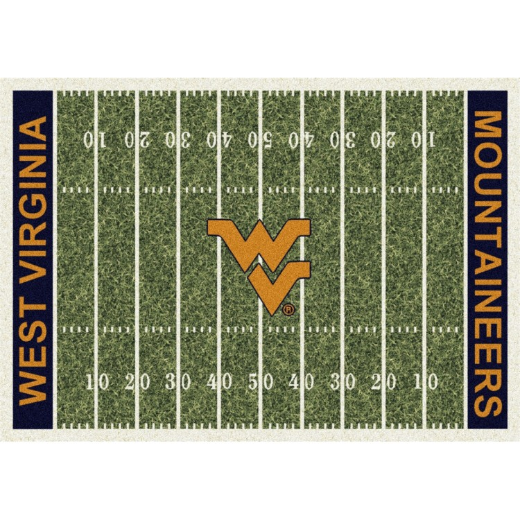 """West Virginia Mountaineers 5'4""""x7'8"""" College Home Field Area Rug"""