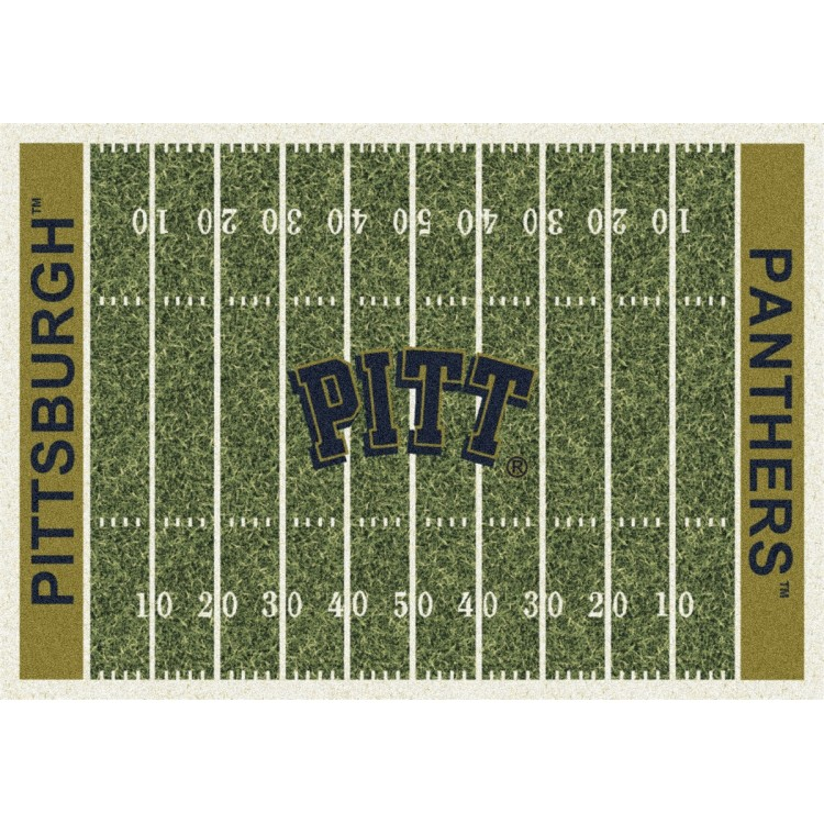 """Pittsburgh 7'8""""x10'9"""" College Home Field Area Rug"""
