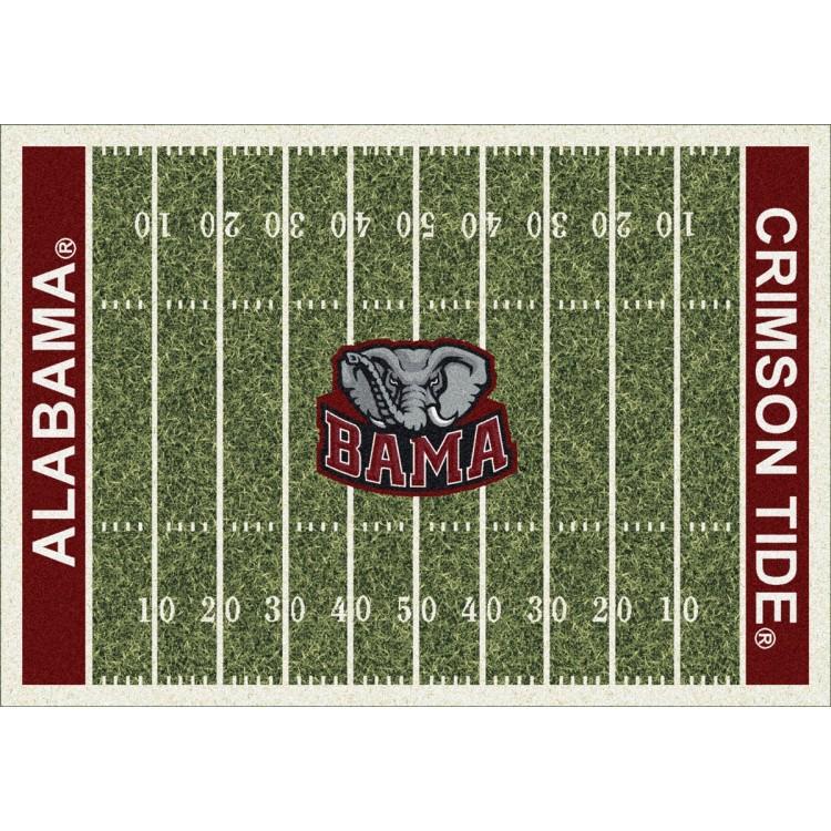"""Alabama Crimson Tide 10'9""""x13'2"""" College Home Field Area Rug"""