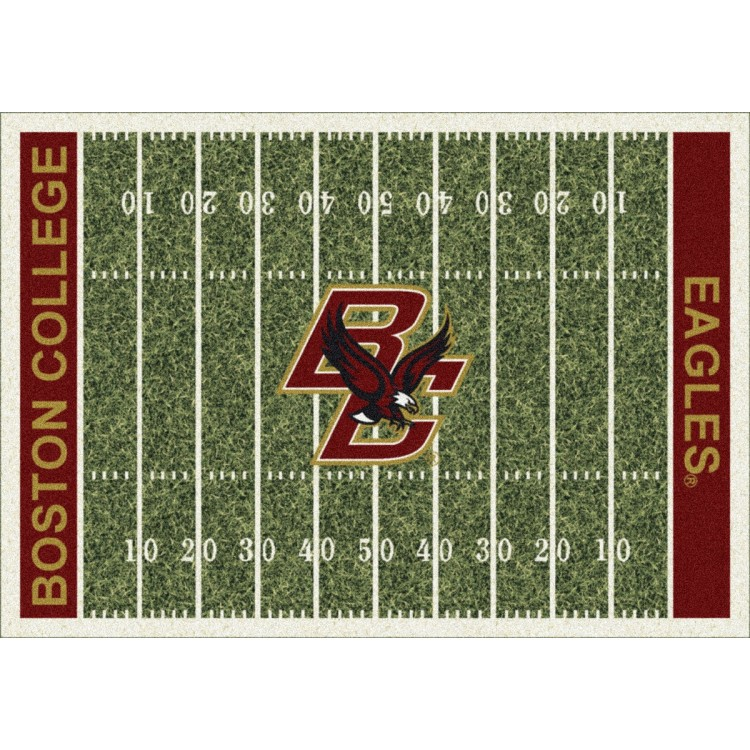 """Boston College Eagles 10'9""""x13'2"""" College Home Field Area Rug"""