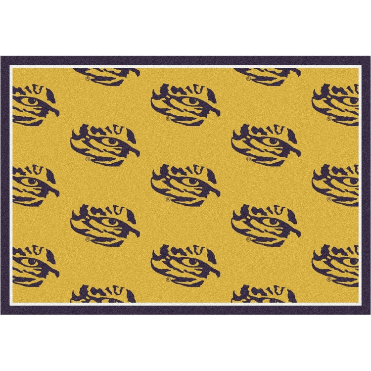 """LSU 3'10""""x5'4"""" College Repeating Area Rug"""