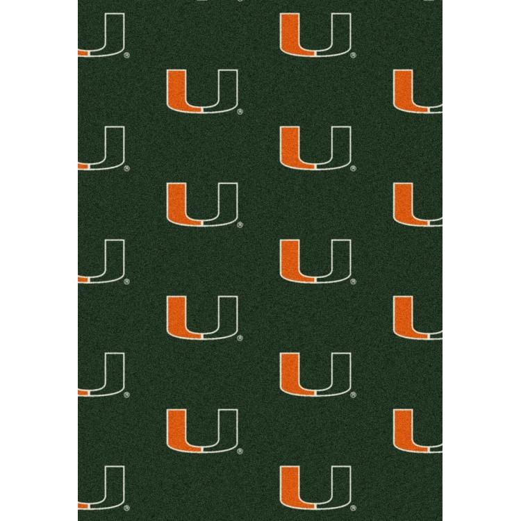 "Miami 7'8""x10'9"" College Repeating Area Rug"