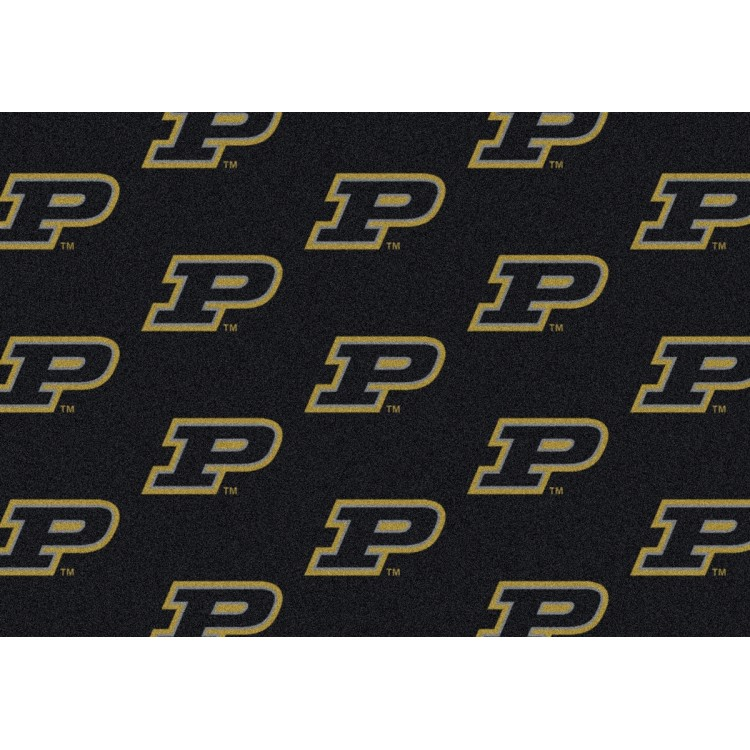 "Purdue 10'9""x13'2"" College Repeating Area Rug"