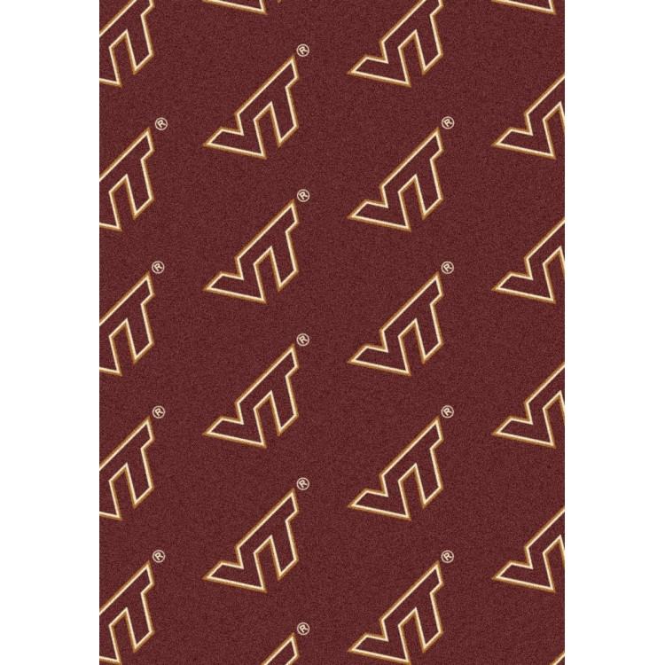 "Virginia Tech Hokies 10'9""x13'2"" College Repeating Area Rug"