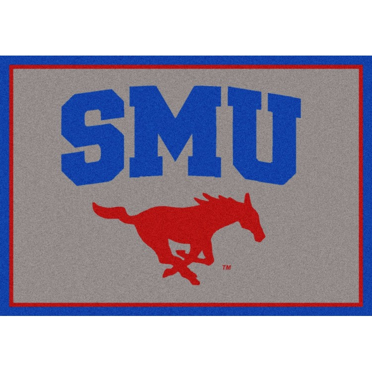 "Southern Methodist Mustangs 3'10""x5'4"" College Team Spirit Area Rug"