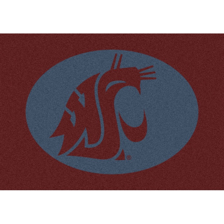 "Washington State Cougars 7'8""x10'9"" College Team Spirit Area Rug"