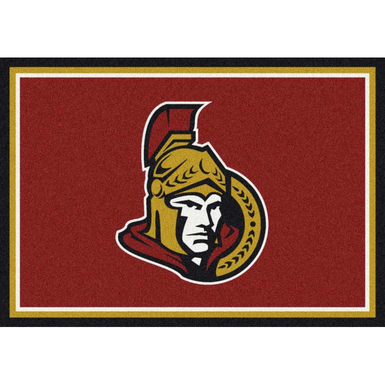 "Ottawa Senators 7'8""x10'9"" NHL Team Spirit Area Rug"