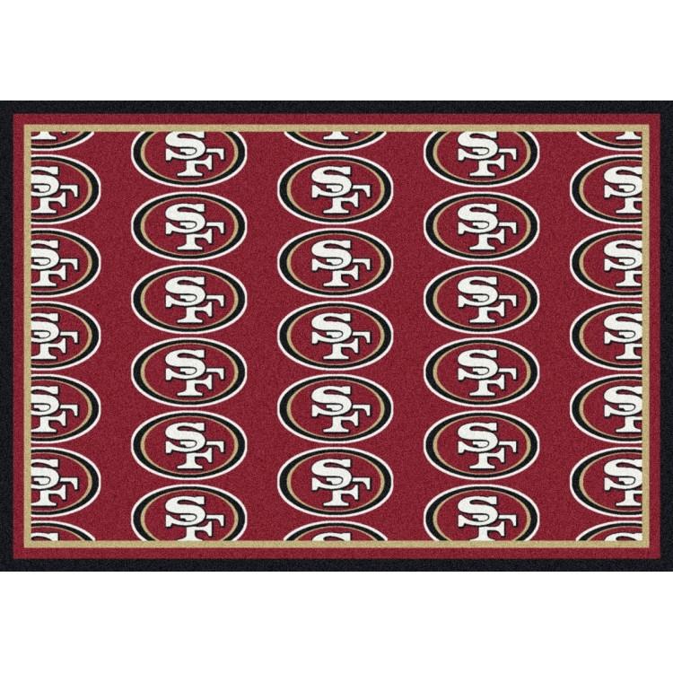 "San Francisco 49ers 3'10""x5'4"" NFL Team Repeat Area Rug"