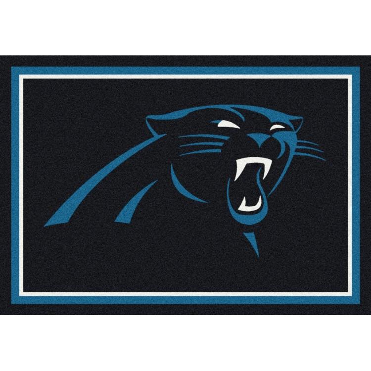"""Carolina Panthers 5'4""""x7'8"""" NFL Team Spirit Area Rug"""