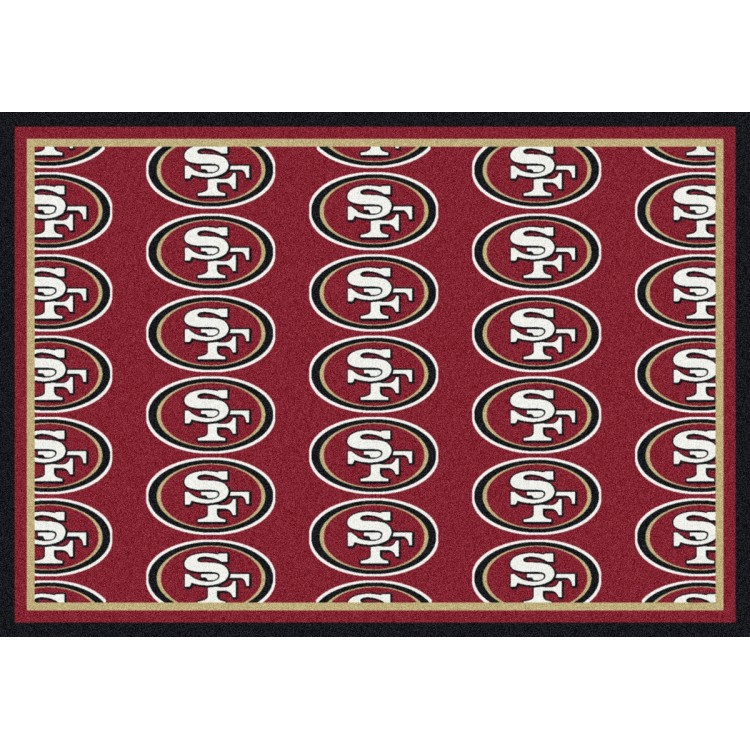"San Francisco 49ers 10'9""x13'2"" NFL Team Repeat Area Rug"