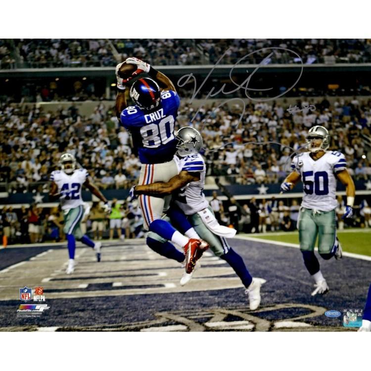 "Victor Cruz New York Giants Autographed 16"" x 20"" vs. Dallas Cowboys Photograph"