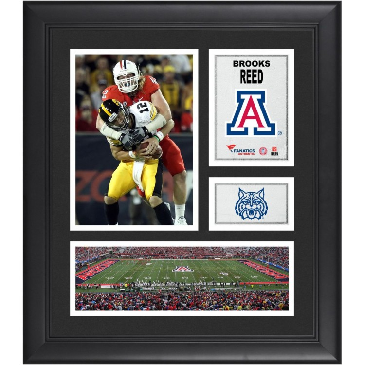 "Brooks Reed Arizona Wildcats Framed 15"" x 17"" Collage"