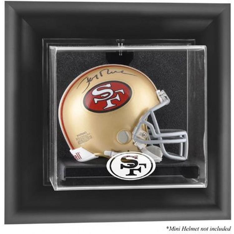 San Francisco 49ers Wall-Mounted Mini Helmet Display Case -