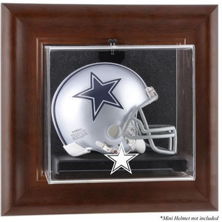 Dallas Cowboys Mini Helmet Display Case - Brown