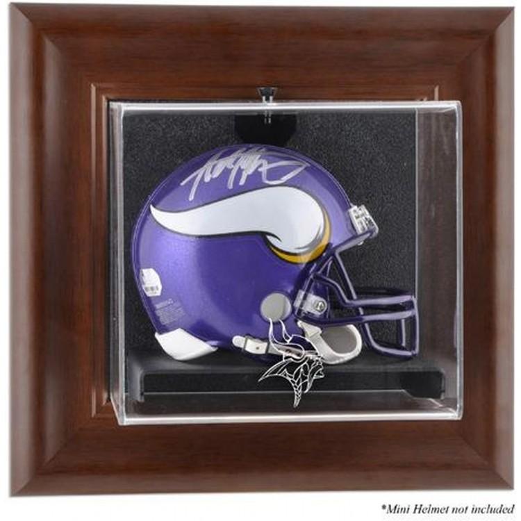 Minnesota Vikings Brown Mini Helmet Display Case