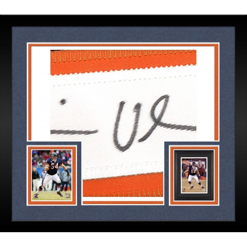 best service 1a644 3ebea Framed Chicago Bears Brian Urlacher Signed Jersey