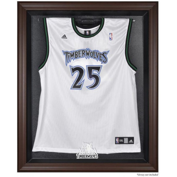 Minnesota Timberwolves Brown Framed Jersey Display Case