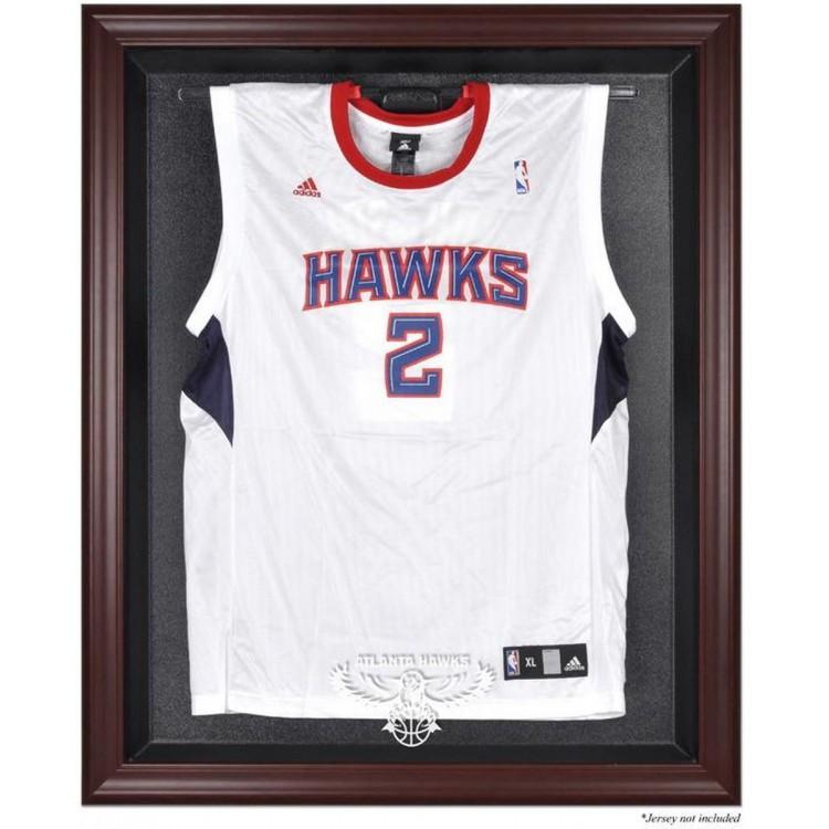 Atlanta Hawks Mahogany Framed Team Logo Jersey Display Case
