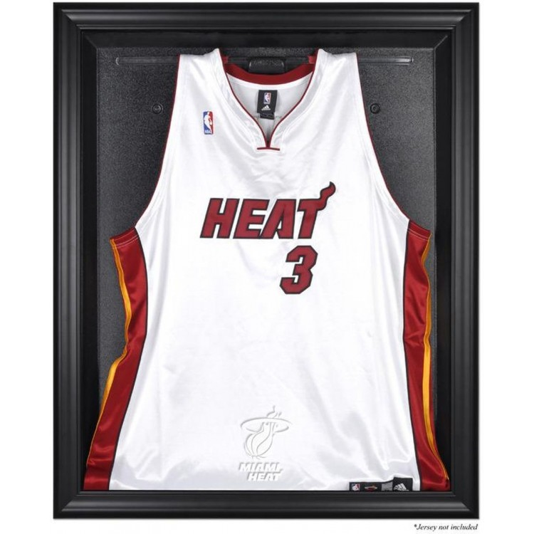 Miami Heat Black Framed Team Logo Jersey Display Case